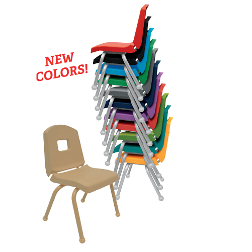 "12CHRB Stacking School Chair 12"" - 6 Pack"