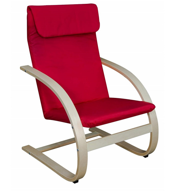 Adult Bentwood Reclining Lounge Chair - Red