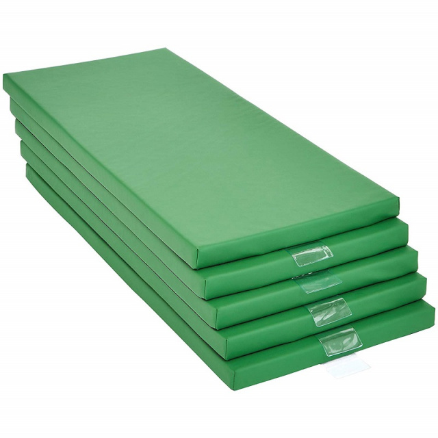 "Basic 2"" Memory Foam Rest Nap Mats Green - 5 Pack"