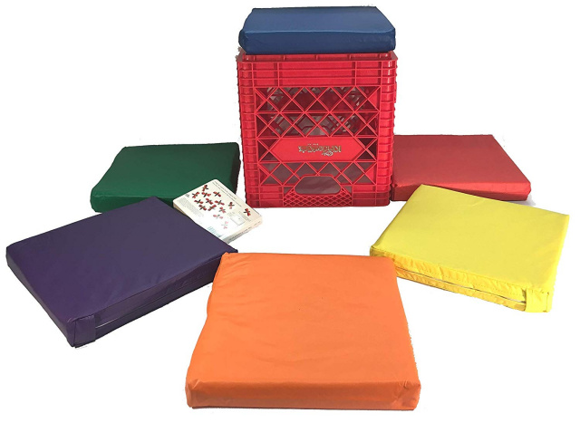 KinderCrate 6 Cushions and Sturdy Storage Crate
