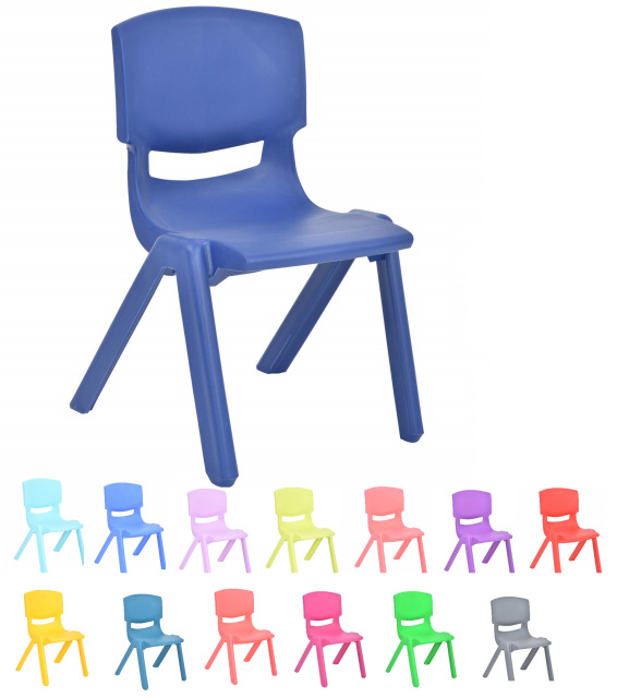 "Stackable Plastic Kids Learning Chair 11"" - 2 pack"