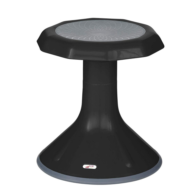 ELR-15615-BK ACE Stool black 15 Engagement Wobble Flexible Classroom Seating