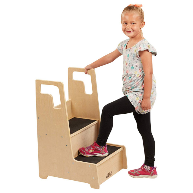 ECR4Kids Reach-Up Step Stool with Support Handles elr-17429