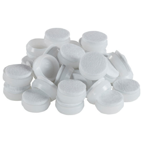 FP-10389-N Snap-On Felt Caps for Chair Glides - 48 Pack