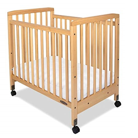 Bristol Fixed Side Compact Crib with Casters