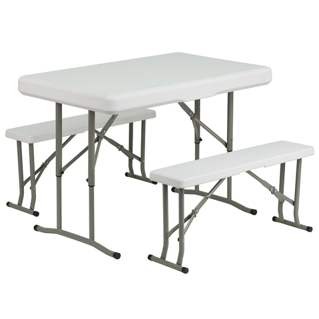 DAD-YCZ-103-GG Plastic Folding Table and Bench Set