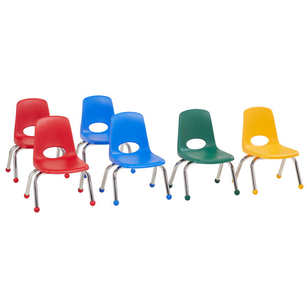 10357-AS 10in Stack Chair Ball Glide Assorted 6 Pack
