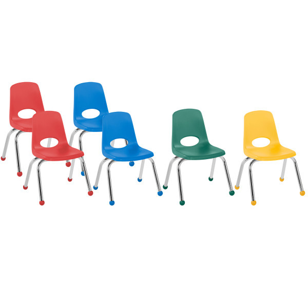 FP-10361-AS 12in Stack Chair Ball Glide Assorted 6 Pack