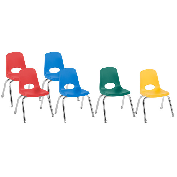 FP-10362-AS 12in Stack Chair Swivel Glide Assorted 6 Pack