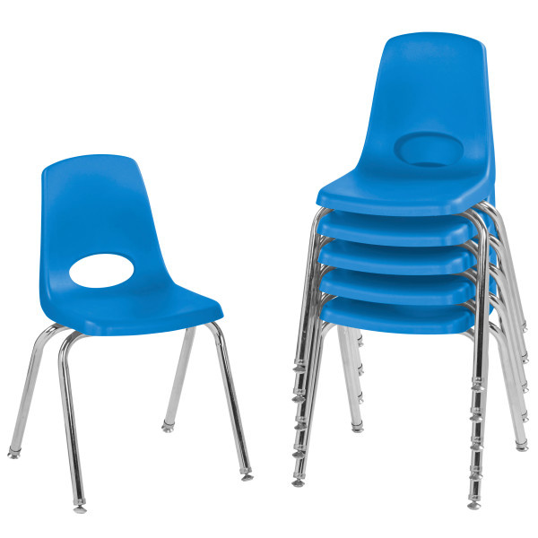 10368 16in Stack Chair Swivel Glide - 6 Pack