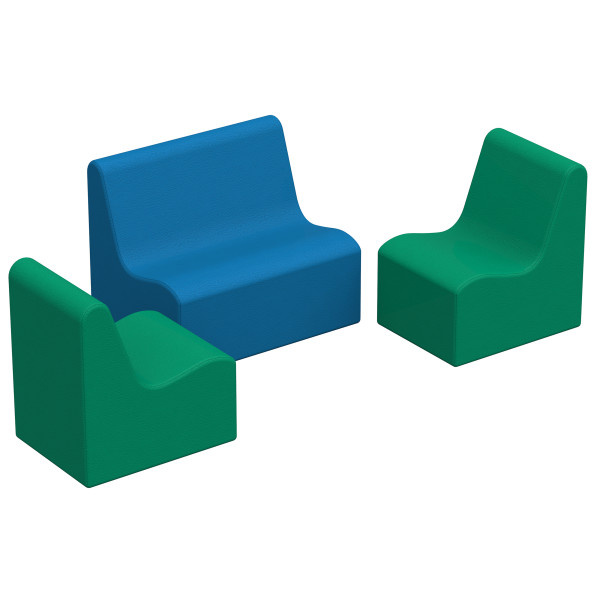10468-CT SoftScape Wave Toddler Seating Set - 3 Piece