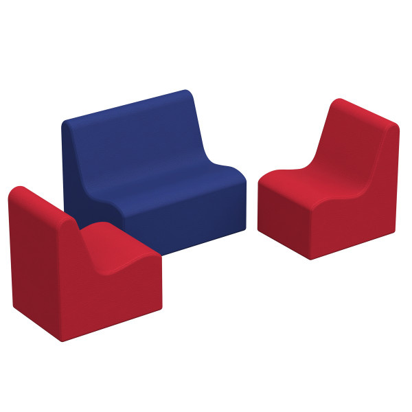 10468-AS SoftScape Wave Toddler Seating Set - 3 Piece