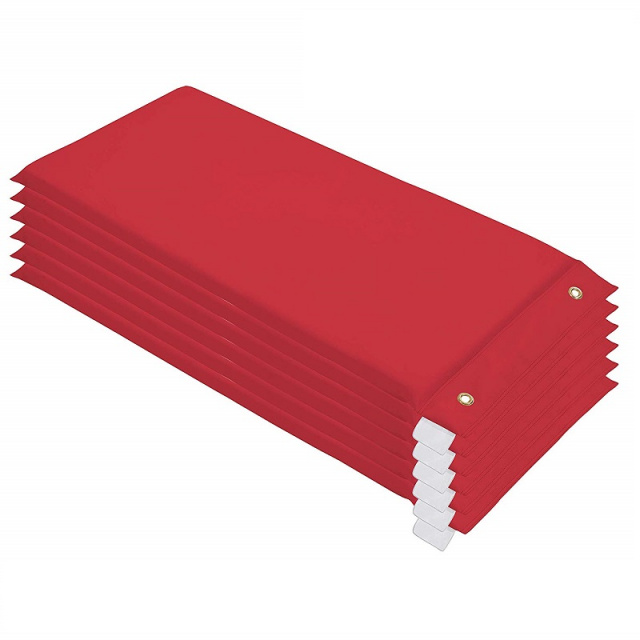 10498-RD Hanging Rest Mat Red - 6 Pack
