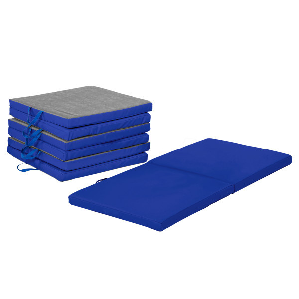 11228-BL SoftScape Bi-Fold Rest Mat 4-Pack - Blue