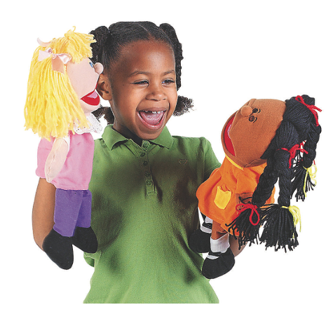 happy kids hand puppets 8 puppet set ethnic