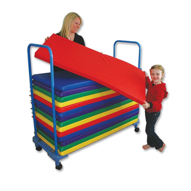 PP-MB-1 KinderMat Bus - Mat Storage Cart