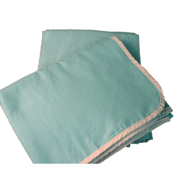 RB-1 Light Blue Cotton Flannel Blanket - 8 Pack