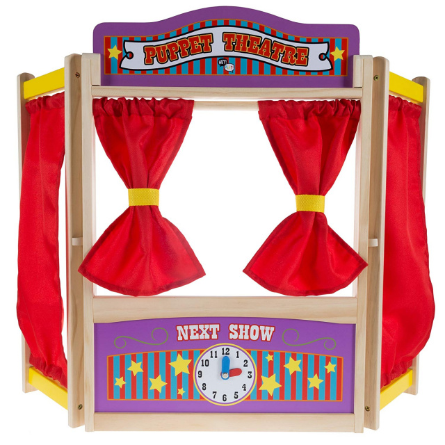 80-HCH212 Wooden Tabletop Puppet Theater