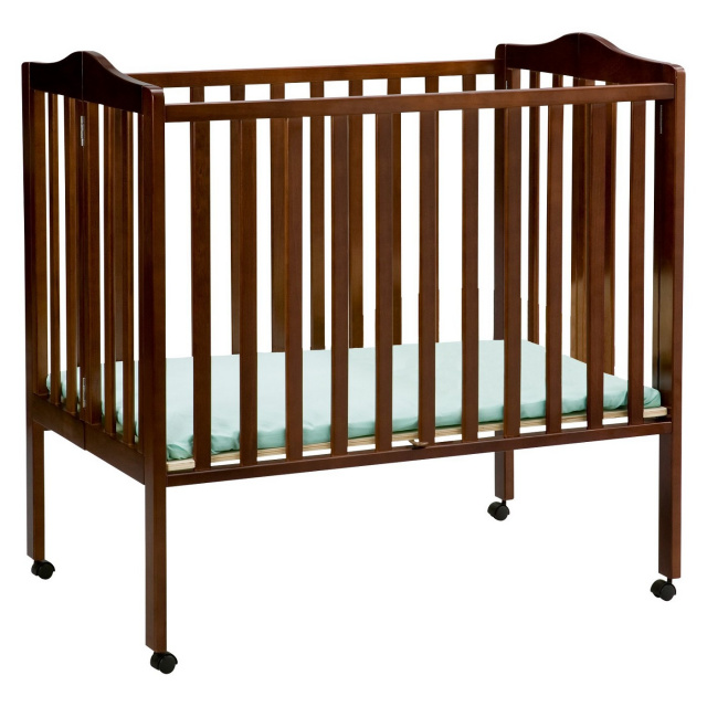 Delta Children Portable Mini Crib - Dark Cherry