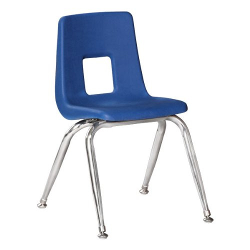 "Preschool Chair with Chrome Legs - 9 1/2"" - 4 Pack"
