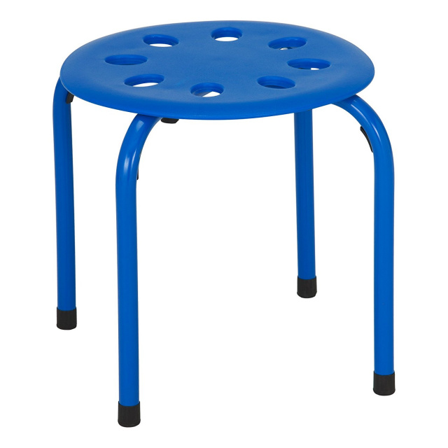 "Classroom Stack Stools 12"" Assorted - 5 Pack"