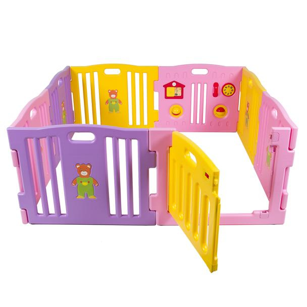 BC 8 Panel Safety Play Center - Pink