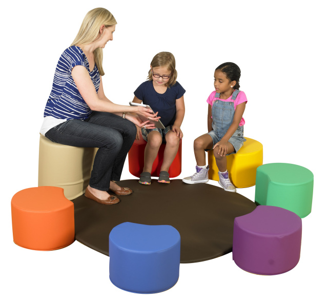 CF805-011 Painter's Stools with Teacher's Seat and Mat