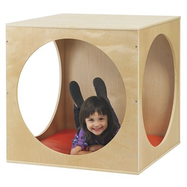 ELR-17506 Birch Playhouse Cube with Mat