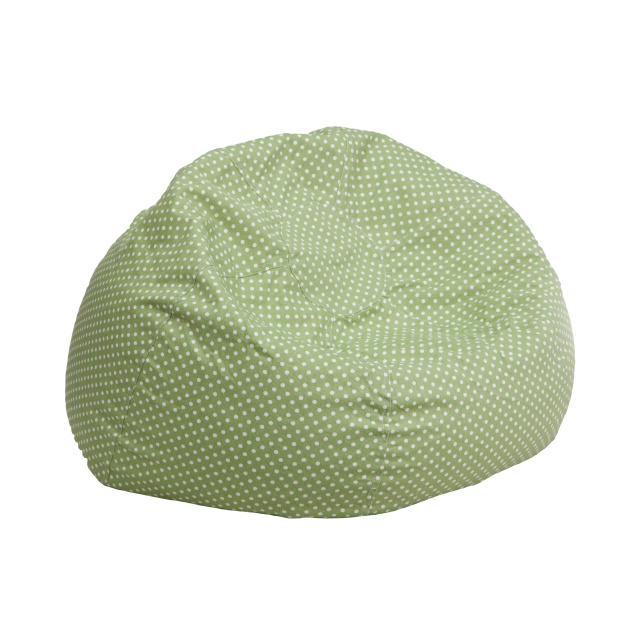 FF Kids Bean Bag Chair Small - Green Dot