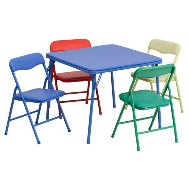 FF Kids Folding Table & 4 Chairs - Assorted