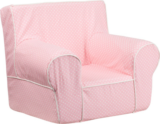 FF- Small Kids Chair - Pink Dot