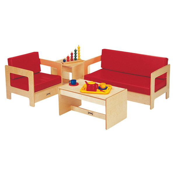 0380JC Living Room 4 Piece Set - Red