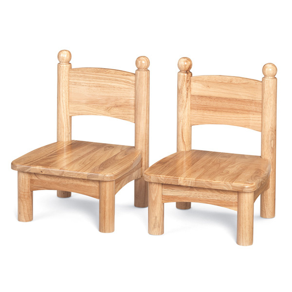 "8947JC2 Wooden Chair 7"" Seat Height - 2 Pack"