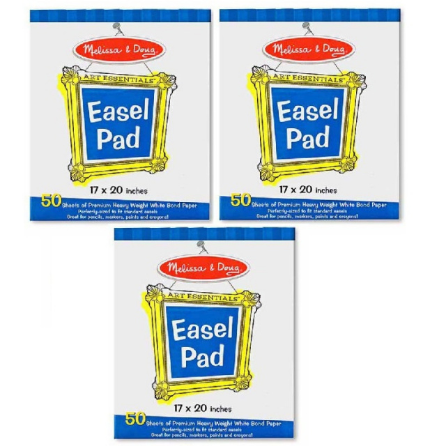 MD-4102 Large Easel Paper Pads - 3 Pack