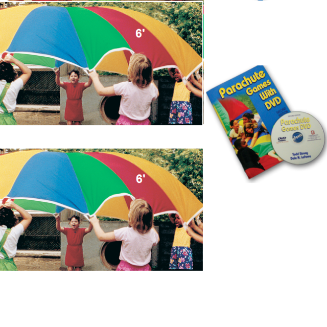KinderChute 6 12 parachute book dvd