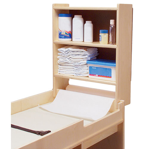 Changing Table storage cabinet paper roll holder