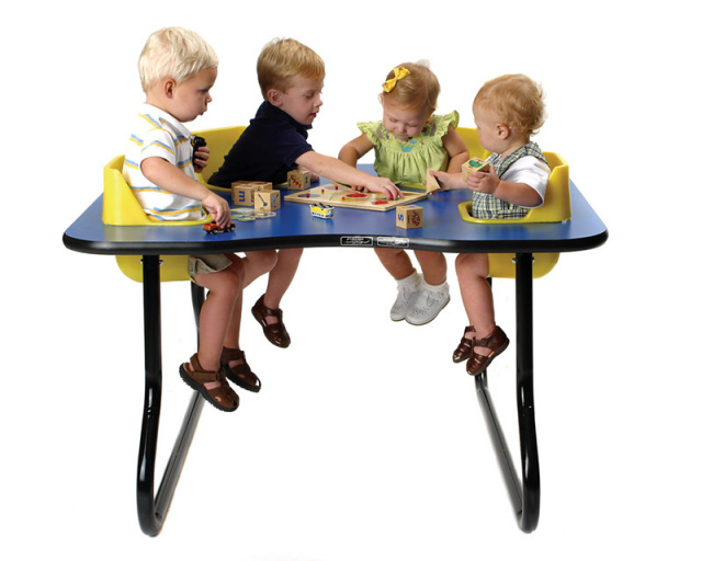 4 seat toddler table space saver feeding table