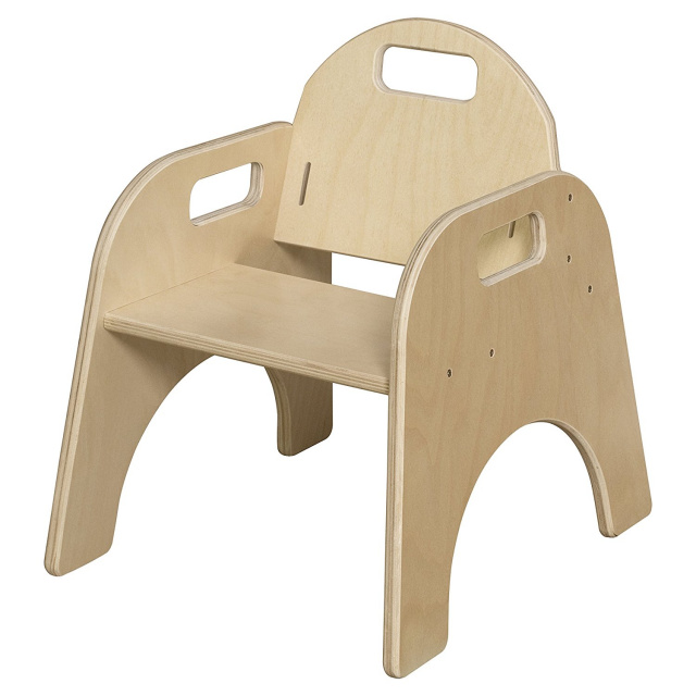 "Wood Designs Stackable Woodie Toddler Chair 9"" High Seat"