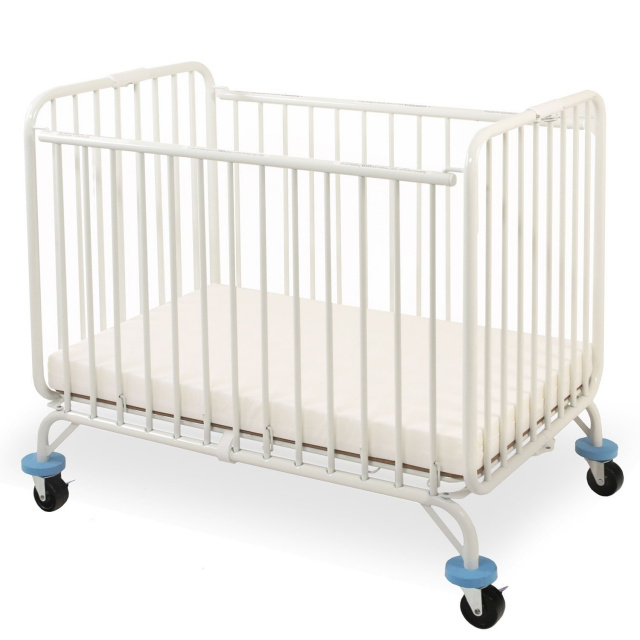 CS-882 LA Baby Deluxe Holiday Compact Folding Metal Crib