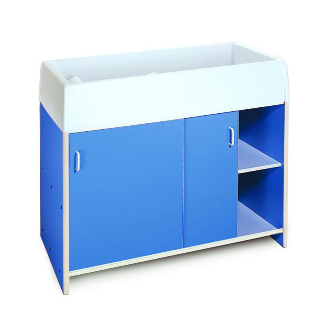 WB0721 Ez Clean Infant Changing Cabinet - Blue
