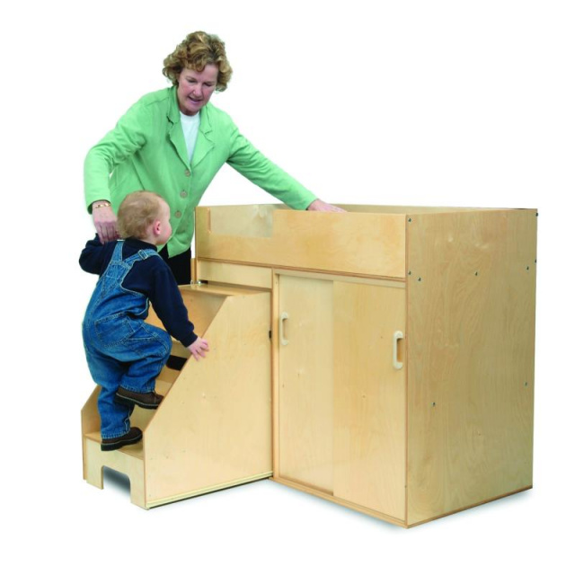 WB0648 Step Up Toddler Changing Cabinet