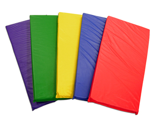 ELR-0573-AS Rainbow Rest Mats Assorted - 5 Pack