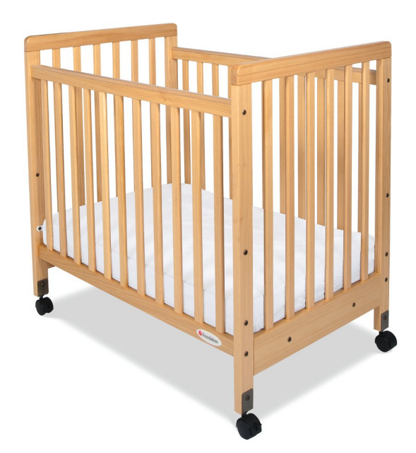 1631040 SafetyCraft Compact-Size Fixed-Side Crib Slatted Headboard