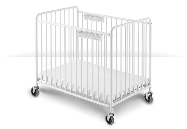 "2031097 Chelsea Slatted Steel Child Care Crib with 4"" casters"