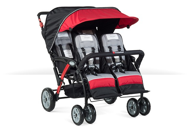 Foundations Sport Splash Quad Stroller 4 Passenger RED 4141079