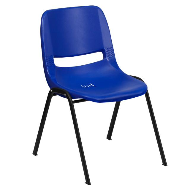 HERCULES SERIES 440 LB. CAPACITY NAVY ERGONOMIC SHELL STACK CHAIR  12