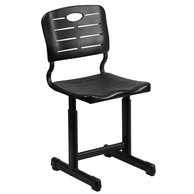 FF ADJUSTABLE HEIGHT BLACK STUDENT CHAIR - 6 Pack