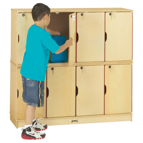 4696JC  Stacking Lockable Lockers Double Stack
