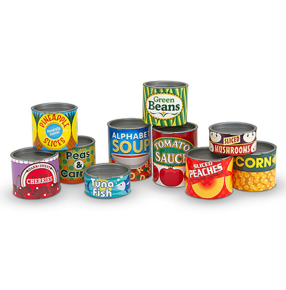 Play Food Let's Play House! Grocery Cans 10