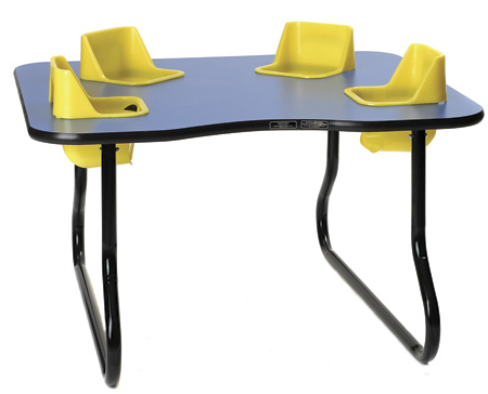 4 seat space saver toddler tables daycare furniture direct